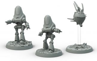 Fallout: Robots Protectron and Eyebot 1