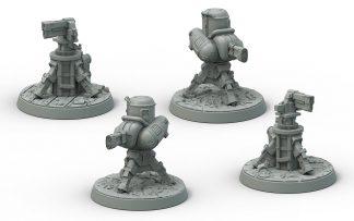 Fallout: Terrain Expansion Turrets (x4) 1