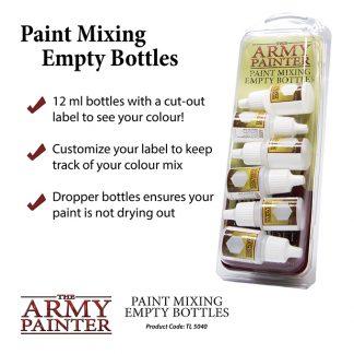 Empty Mixing Paint Bottles 1