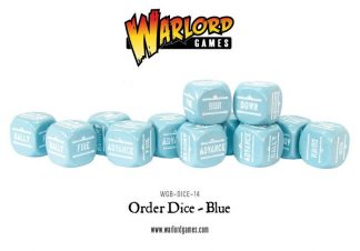Bolt Action Orders Dice - Blue (12) 1