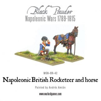 Napoleonic British Rocketeer with horse 1