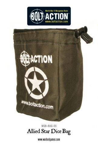 Bolt Action Allied Star Dice Bag 1
