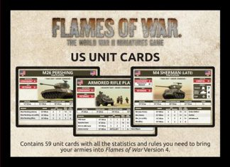 Late War: US Unit Cards 1