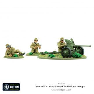 Korean War: North Korean KPA M-42 anti-tank gun 1