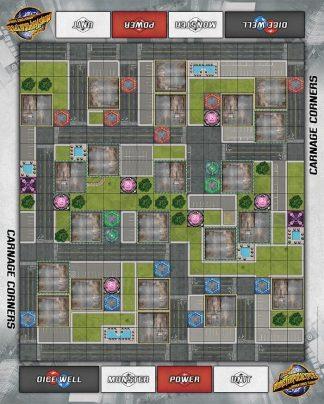 Monsterpocalypse Carnage Corners Fabric Playmat 1