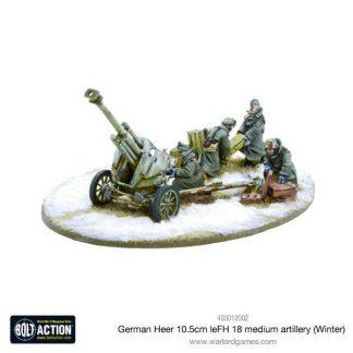 German Heer 10.5cm leFH 18 medium artillery (Winter) 1