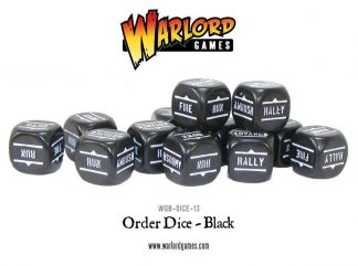 Bolt Action Orders Dice - Black (12) 1