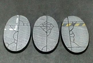 Concrete: 75x46mm Oval Bases (3) 1