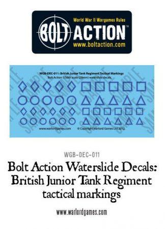 British Junior Tank Reg tactical marking decals 1