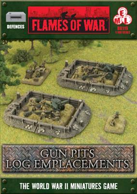 Flames of War: Log Emplacements Gun Pit Markers 1