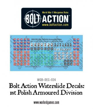 1st Polish Armoured Division decal sheet 1