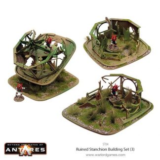 Ruined Stanchion Building Set 1