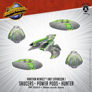 Monsterpocalypse Martian Menace Saucers Power Pods & Hunter 1