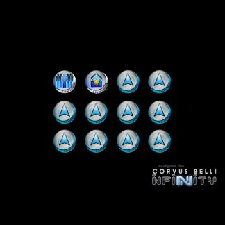Infinity Tokens Regular (12) BLUE 1