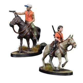 The Walking Dead: Maggie and Glenn on Horseback 1