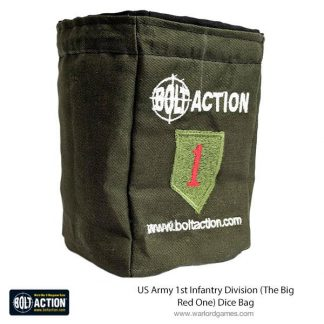 US Army 1st Infantry Division (The Big Red One) Dice Bag 1