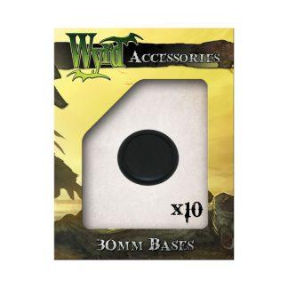 30mm black round lipped plastic bases (10 pack) 1