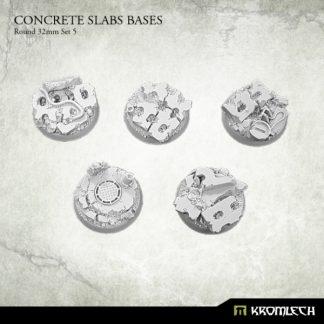 Concrete Slabs Round 32mm Set 5 (5) 1