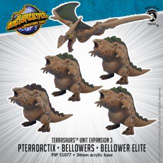 Monsterpocalypse Terrasaurs Bellowers, Elite Bellower & Pteradactix 1