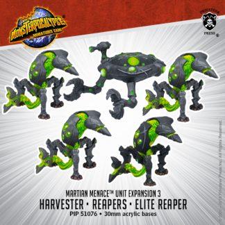 Monsterpocalypse Martian Menace Reapers, Elite Reaper & Harvester 1