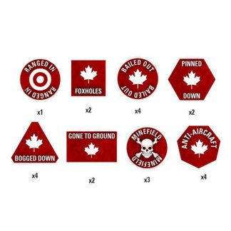 Team Yankee Canadian Token Set 1