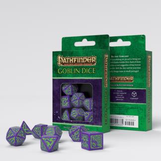 Pathfinder Goblin Purple & green Dice Set (7) 1