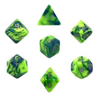Toxic Slime Dice Green/Blue Bag of 10 D20 (1-20) 1