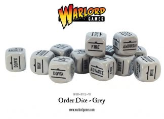 Bolt Action Orders Dice - Grey (12) 1