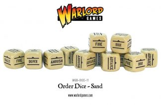 Bolt Action Orders Dice - Sand (12) 1