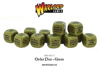 Bolt Action Orders Dice - Green (12) 1
