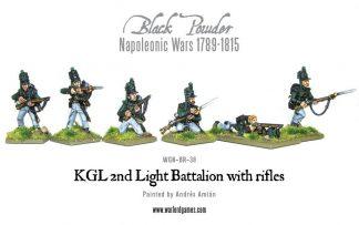 Napoleonic British KGL 2nd Light Battalion with Rifles 1