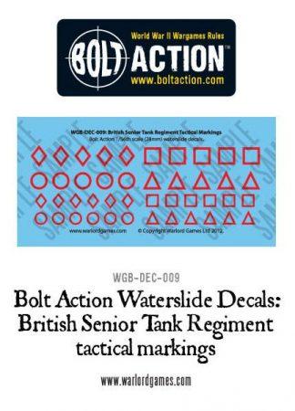 British Senior Tank Reg tactical marking decals 1