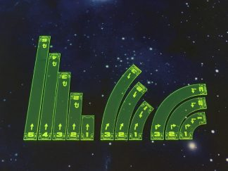 Space Fighter Move Templates Green 1