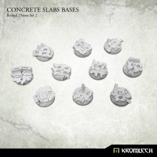 Concrete Slabs Round 25mm Set 2 (10) 1
