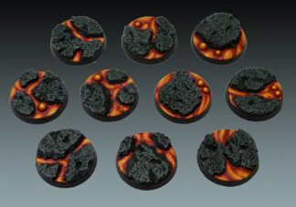 Lava: 25mm Round Bases (10) 1