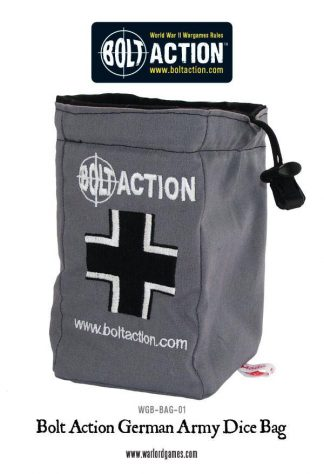 Bolt Action German Army Dice Bag & Order Dice (Grey) 1