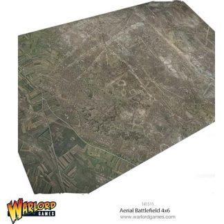 Wargames Terrain Mat - Aerial Battlefield 4x6 1