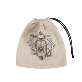 Dwarven Beige & black Basic Dice Bag 1