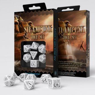 Steampunk White & black Dice Set (7) 1