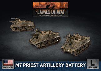 US M7 Priest Artillery Battery 1