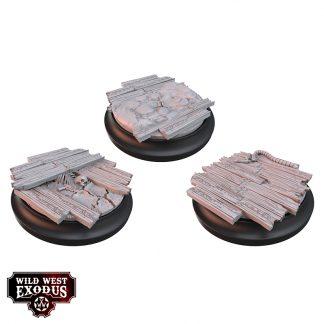 Red Oak Medium Base Topper Set 1
