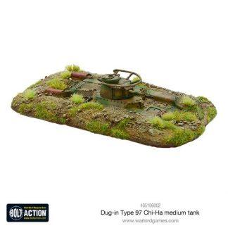 Japanese Dug-in Type 97 Chi-Ha medium tank 1
