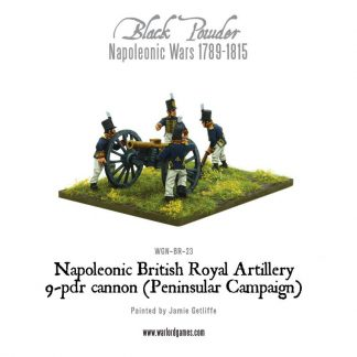 Napoleonic British Royal Artillery 9-pdr cannon (Peninsular) 1