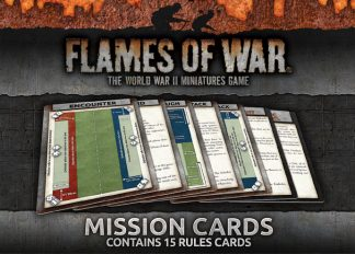 Flames of War Mission Cards 1