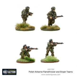 Polish Airborne Flamethrower and Sniper Teams 1