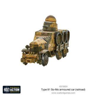 Japanese Type 91 So-Mo armoured car (railroad) 1