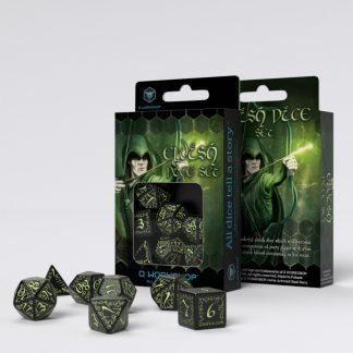 Elvish Black & glow-in-the-dark Dice Set (7) 1