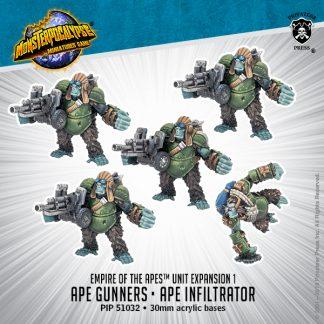 Monsterpocalypse Empire of the Apes Gunners & Infiltrators 1