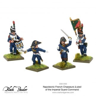 Napoleonic French Chasseurs a Pied of the Imperial Guard command 1