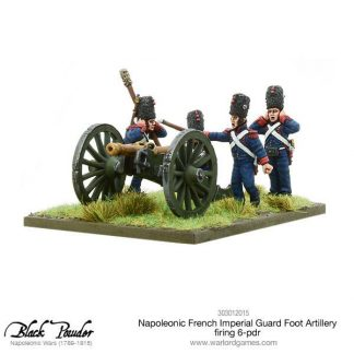 Napoleonic French Imperial Guard Foot Artillery 6-pdr (firing) 1